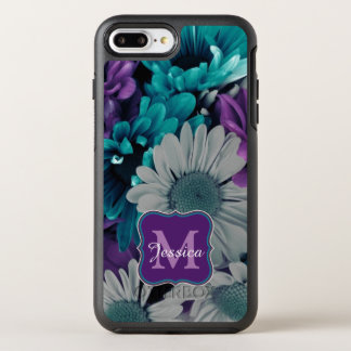 Purple and Blue Flower Smash OtterBox Symmetry iPhone 7 Plus Case