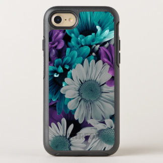 Purple and Blue Flower Smash OtterBox Symmetry iPhone 8/7 Case