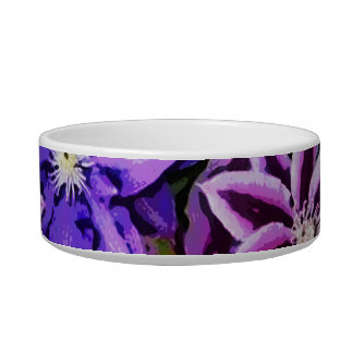 PURPLE AND BLUE FLOWERS BOWL