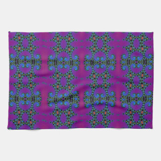 Purple and Blue Fractal Abstract Hand Towel