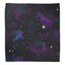 Purple and Blue Galaxy Bandana
