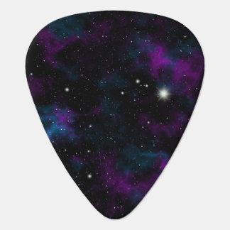 Purple and Blue Galaxy Guitar Pick