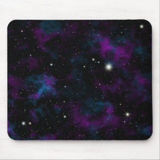 Purple and Blue Galaxy Mouse Pad