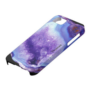 Purple And Blue Geode iPhone SE/5/5s Case