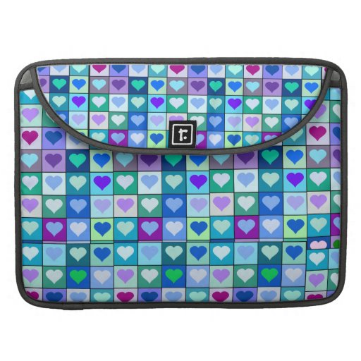 """Purple and Blue Heart Squares Macbook Pro 15"""" case Sleeve For MacBook Pro"""