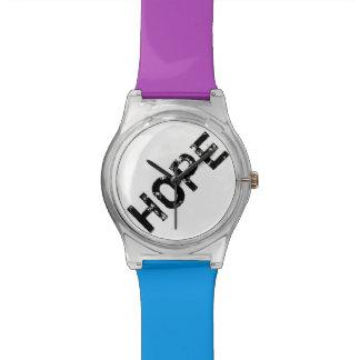 Purple and Blue Hope Custom Wrist Watch