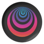 Purple and Blue Hypnoswirl Dinner Plates