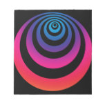 Purple and Blue Hypnoswirl Memo Notepad