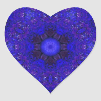 Purple and Blue in 3D Heart Sticker