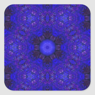Purple and Blue in 3D Square Sticker