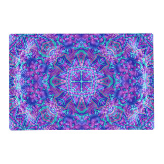 Purple And Blue Kaleidoscope   Colorful Placemats