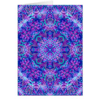 Purple And Blue Kaleidoscope Custom Greeting Cards