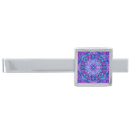 Purple And Blue Kaleidoscope  Custom Tie Bar