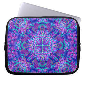 Purple And Blue Kaleidoscope Laptop Sleeve