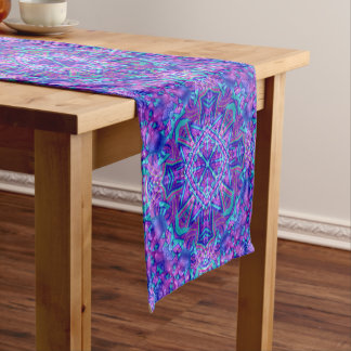 Purple And Blue Kaleidoscope Table Runners