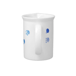 Purple and Blue Kitty Paw Prints Drink Pitcher