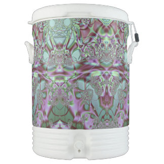 Purple and Blue Lace Beverage Cooler