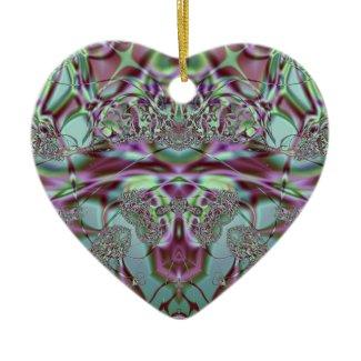 Purple and Blue Lace Design Ornament