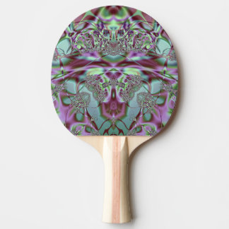 Purple and Blue Lace Ping Pong Paddle