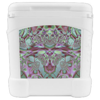 Purple and Blue Lace Rolling Cooler