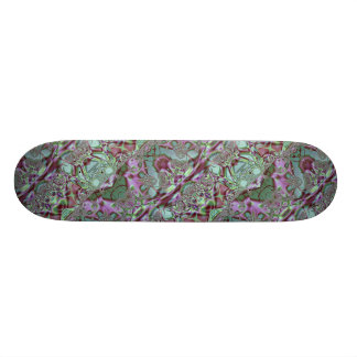 Purple and Blue Lace Skateboard