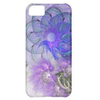 Purple and Blue Lacy Abstract Flower Design Cover For iPhone 5C