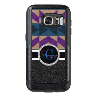 Purple and blue leather bottom Monogram OtterBox Samsung Galaxy S7 Case