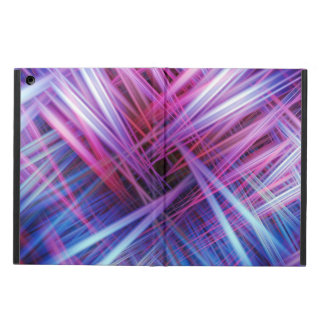 Purple and blue light beams pattern cover for iPad air