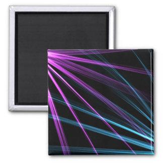 Purple and Blue Light Streaks Fridge Magnet