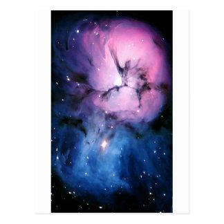 Purple and Blue Nebula Postcard