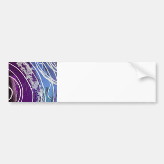Purple and Blue Painted Abstract Art Bumper Sticker