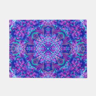 Purple And Blue Pattern  Door Mats