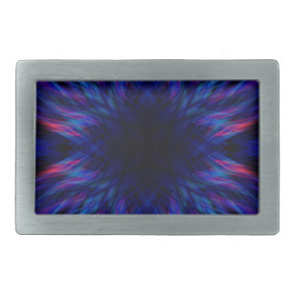 Purple and blue pattern rectangular belt buckle