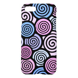 Purple and blue retro iPhone 8/7 case