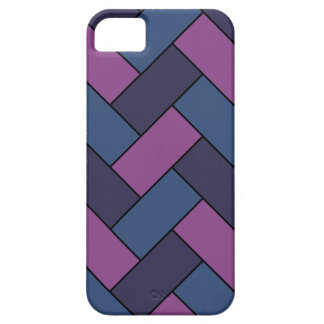 Purple And Blue Rope Weave iPhone SE/5/5s Case
