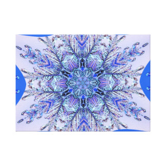 Purple and blue snowflake canvas prints