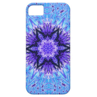 Purple and Blue Snowflake Fractal iPhone SE/5/5s Case