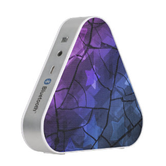 Purple and Blue Stars Crackle Effect Speakers