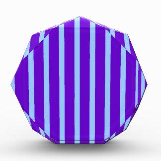 Purple and Blue Stripes Acrylic Award