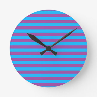 Purple and Blue Stripes Clock