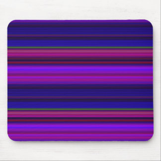 Purple and Blue Stripes Mouse Pad