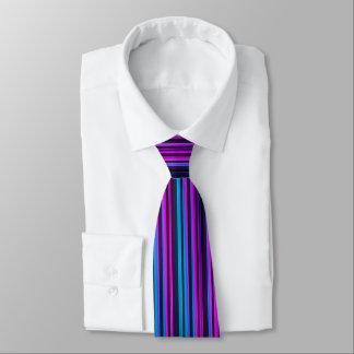 Purple and Blue Stripes Tie