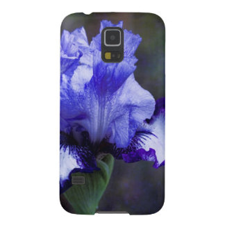 Purple and Blue Tall Bearded Iris Blossom Galaxy S5 Cover
