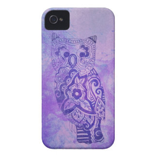 Purple and Blue Tie Dye Owl iPhone 4 Case