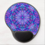 "Purple And Blue Vintage Kaleidoscope Gel Mousepad<br><div class=""desc"">Add some color to your computer desk with beautiful cool colorful funky custom gel mousepads! Beautiful tie dye,  kaleidoscope and fractal patterns great for anyone who likes to be colorful. Add any text or pictures you like easily with the customize button. Many fonts and text colors to choose from.</div>"