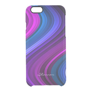 Purple and Blue Waves Clear iPhone 6 case Uncommon Clearly™ Deflector iPhone 6 Case
