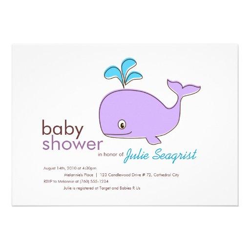blue whale baby shower invitations 5 x 7 invitation card za