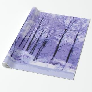 Purple and Blue Winter Pond