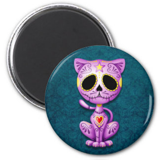Purple and Blue Zombie Sugar Kitten Refrigerator Magnets
