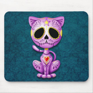 Purple and Blue Zombie Sugar Kitten Mouse Pads